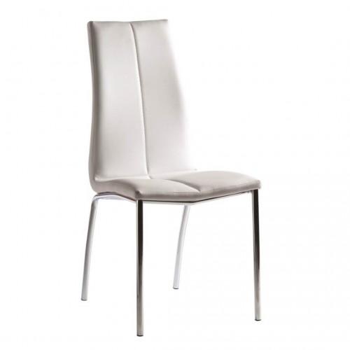 Silla Leaf Blanco. Estructura hierro. Blanco.