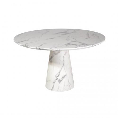 Mesa Comedor Core. Estructura mármol. Blanco. Camino a Casa.