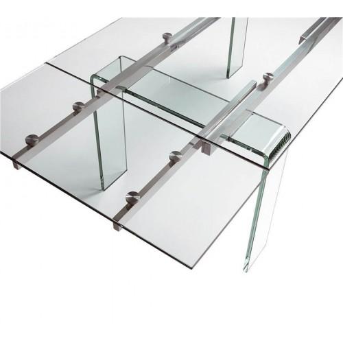 Mesa Comedor Cristal. Estructura acero. Cristal. Camino a Casa.