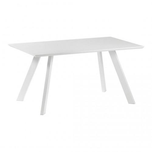 Mesa Comedor Impossible. Estructura hiero. Tapa madera DM. Blanco.