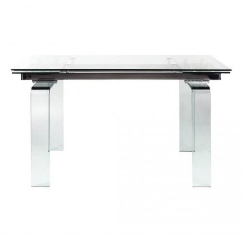 Mesa Comedor Urban. Estructura acero. Cristal. Transparente.
