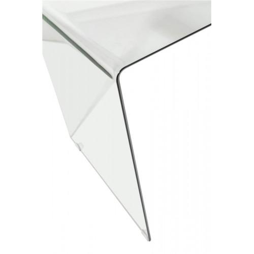 Mesa Oficina Transparente. Estructura cristal. Transparente. Camino a Casa.