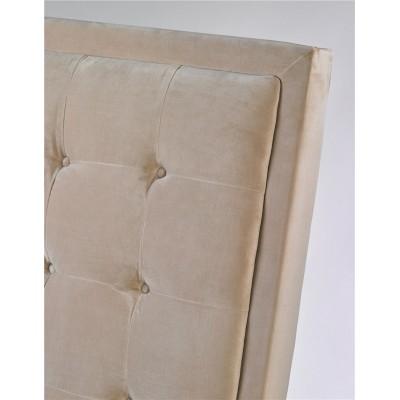 Cabecero Cool. Estructura madera pino. Tejido algodón y lino. Gris. Camino a Casa.