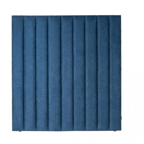 Cabecero Waves 135. Estructura madera pino. Tapicería azul.