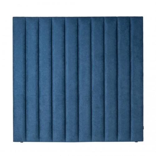 Cabecero Waves 150. Estructura madera pino. Tapicería azul. Camino a Casa.