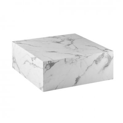 Mesa Centro Core. Estructura mármol. Blanco. Camino a Casa.