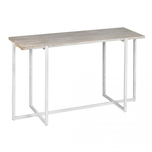 Consola Shangri-La Blanco. Estructura de hierro blanco. Tapa madera mango. Blanco.