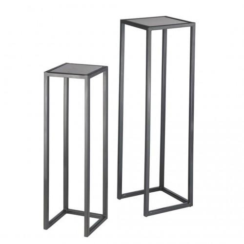 Set Pedestal Reef. Estructura hierro. Negro.
