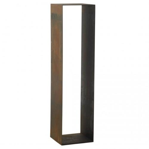 Pedestal. Estructura hierro. Tratamiento óxido.