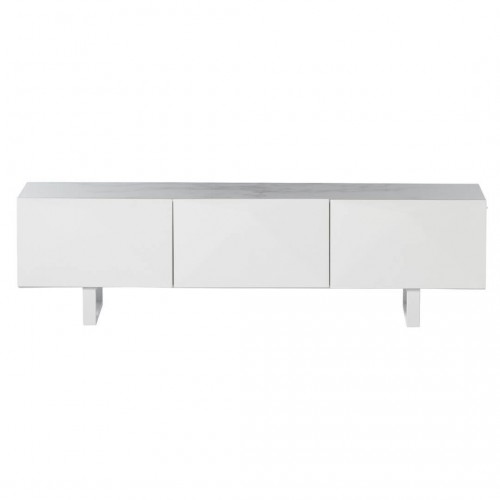Mueble Tv Tomorrow. Estructura madera DM. Laca mate. Blanco.
