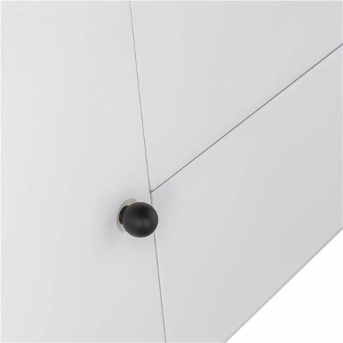 Mesa TV Waldorf. Estructura tablero DM. Interior melamina. Pintura. Blanco.