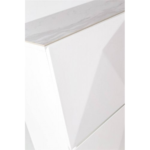 Mueble Tomorrow. Estructura madera DM. Laca mate. Blanco.