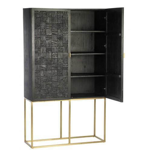 Mueble Shangri-La. Estructura hierro madera mango. Pintura. Negro. Camino a Casa.