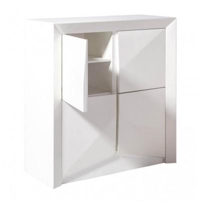 Modulo Arc. Estructura madera DM. Interior melamina. Laca brillo. Blanco.