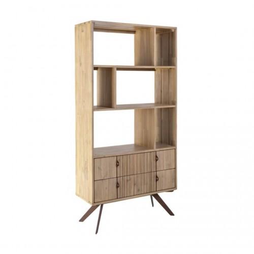 Librería Life. Estructura madera acacia. Tinte y barniz. Natural. Camino a Casa.