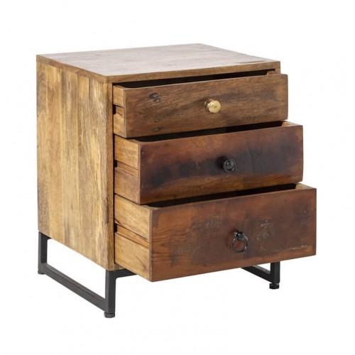 Mesilla Woodland. Estructura hierro y madera mango. Pintura. Marrón.