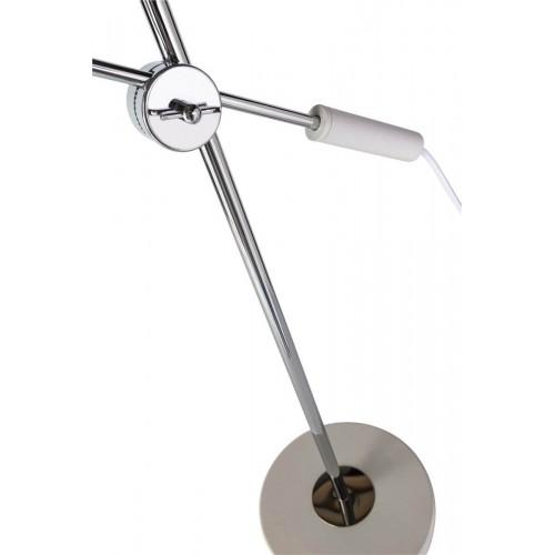 Lámpara Mesa Cone. Estructura hierro. Tulipa hierro. Blanco.