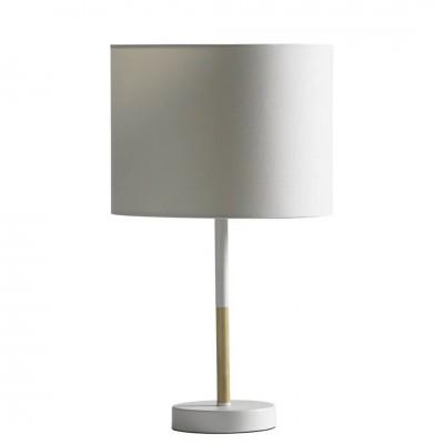 Lámpara Mesa Craft. Estructura acero. Tulipa de acero. Blanco.