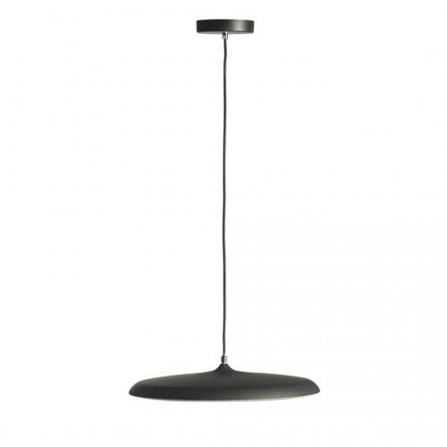 Lámpara Techo Drop. Estructura acrílico y plástico. Pintura. Negro.