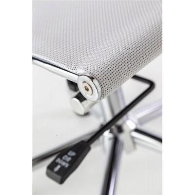 Silla Oficina Zeta. Estructura hierro y malla. Blanco.