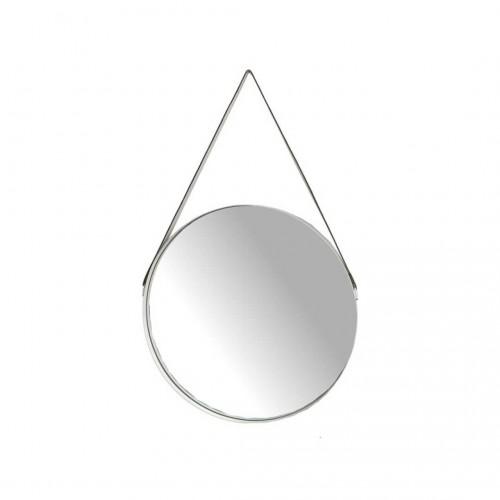 Espejo Cuerda 57. Estructura espejo y metal. Blanco.