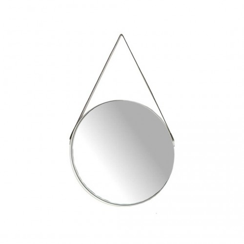 Espejo Cuerda 77. Estructura metal y espejo. Blanco.