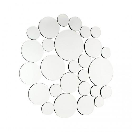 Espejo Circles. Estructura tablero DM. Espejo. Pintura. Plata.