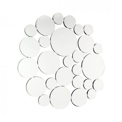 Espejo Circles. Estructura tablero DM. Espejo. Pintura. Plata. Camino a Casa.