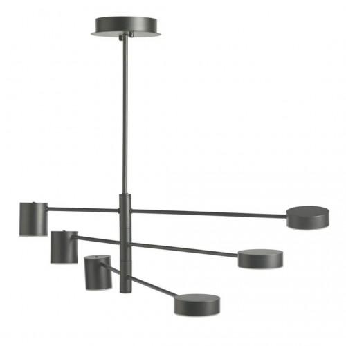 Lámpara Techo Cilinder Negro. Estructura hierro y aluminio. Pintura. Negro.