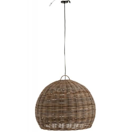 Lámpara techo Rodas grande. Bambú. Natural.