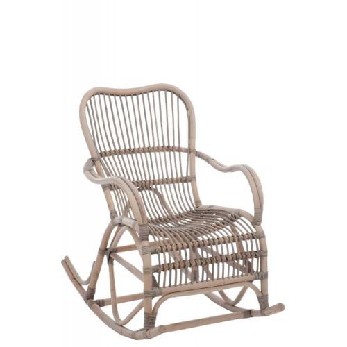 Mecedora  Cadeira Mimbre. Gris. J-Line.