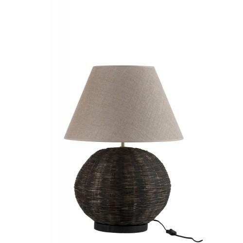 Lámpara mesa Giglio. Bambú. Negro.
