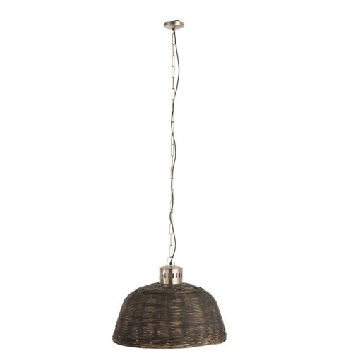 Lámpara techo Giglio pequeña. Bambú. Negro. J-Line.
