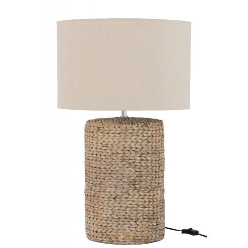 Lámpara mesa Imbali. Algodón. Natural. J-Line.