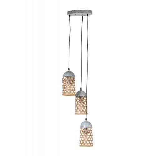 Lámpara Techo Calada. Bambú. Natural. J-Line.