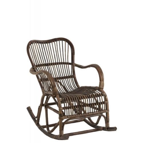 Mecedora Chair. Ratán.  Marrón. J-Line.