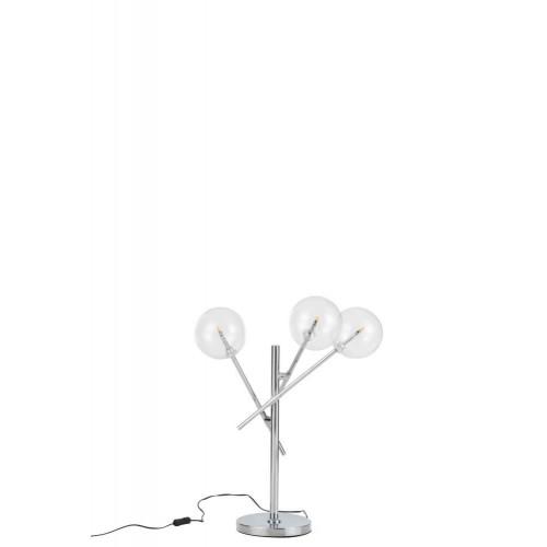 Lámpara Guirnalda. Aluminio y cristal. Plata. J-Line.