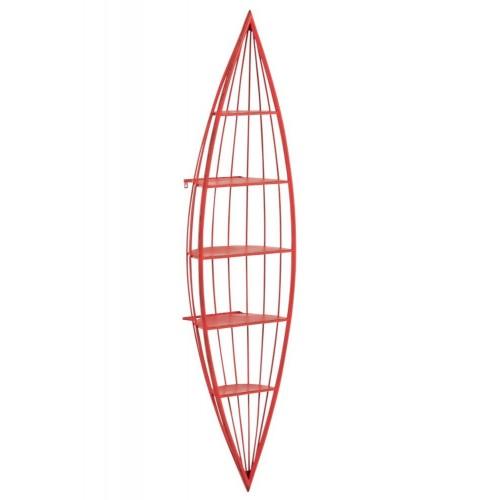 Estantería Canoa. Metal. Rojo. J-Line.