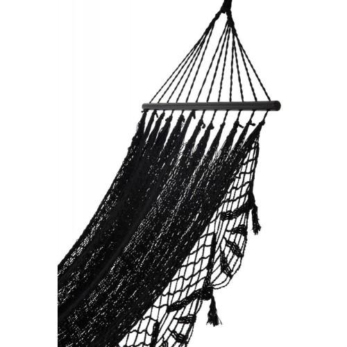 Hamaca Ganchillo. Algodón. Negro. J-Line.