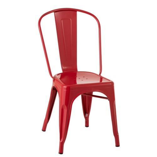 Silla Bistro. Metal. Rojo. J-Line.
