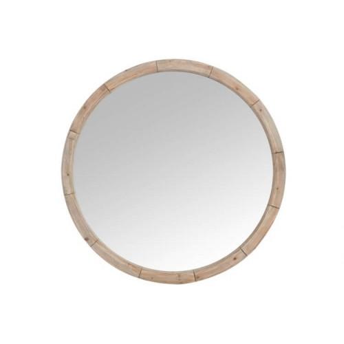 Espejo Redondo. Espejo, madera. Natural. J-Line.