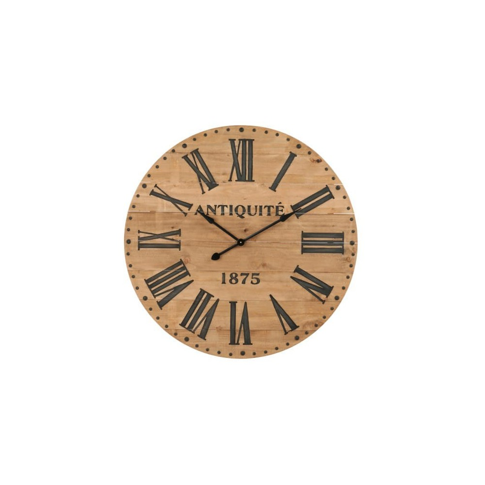 Reloj Romana. madera. natural. J-Line.