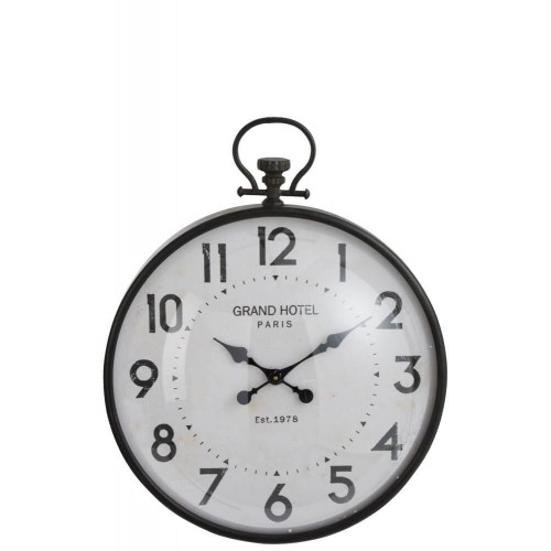 Reloj Bola Negro. Vidrio y metal. Negro. J-Line.