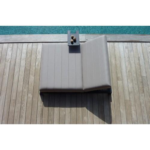 Hamaca Tulum Doble. Tejido de exterior, resistente a rayo UV, al agua y a las manchas. Gris. Incitta.
