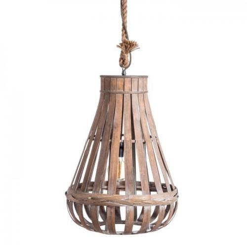 Lámpara Natural Bambú. Lámpara de techo de bambú natural. Ixia.