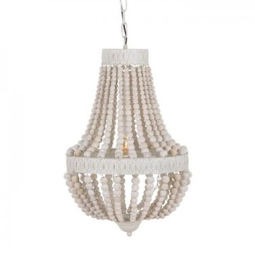 Lámpara techo blanco rozado Marsella mediana. Ixia.