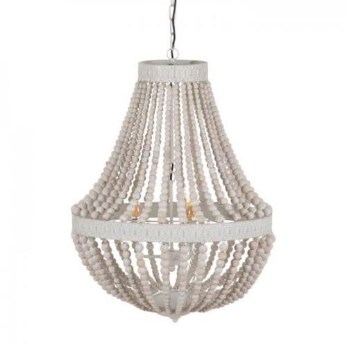 Lámpara techo blanco rozado Marsella grande