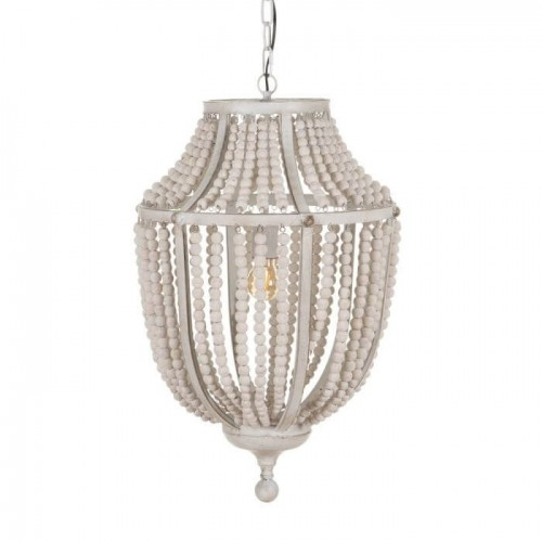 Lámpara techo blanco rozado mediana Sofía