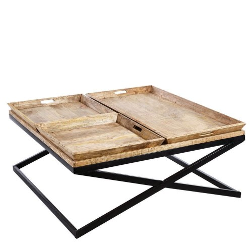 Mesa centro madera mango Violeta. Natural. Denzzo.