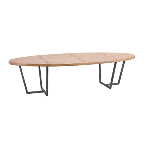 Mesa comedor madera mindi natural California